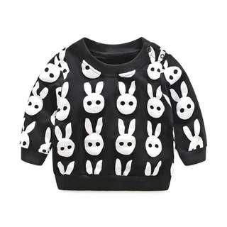 Black And White Rabbit Kids Jumper