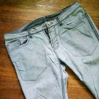 (OXYGEN) Reversible Gray SKINNY Jeans (Size 32)