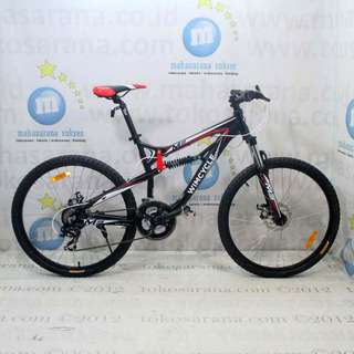 Kredit Cukup KTP 26in Wimcycle M2 Alloy Full Suspension MTB Sepeda Gunung