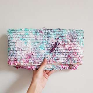BCBGMAXAZRIA Sequin Clutch