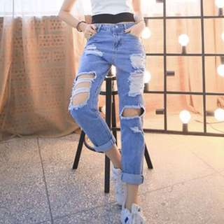 PO Closed - Denim Ripped Jeans