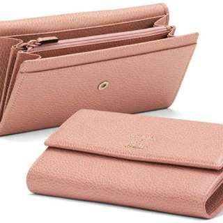 GUCCI BNIB WOMENS CONTINENTAL WALLET IN SOFT PINK *AUTHENTIC*