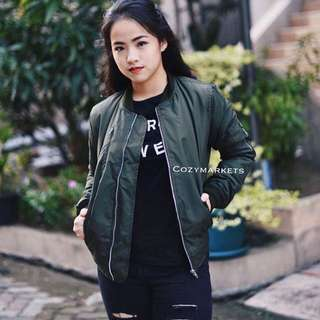 ARMY BOMBER JACKET / HIJAU ARMY