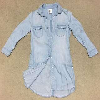 H&M Denim Long Shirt