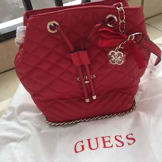 Guess Draw String Bag