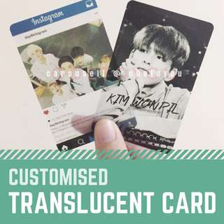 [Fansupport Goods] Translucent Photocards