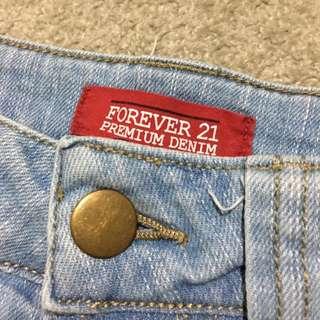 Forever 21 Denim Shorts Size 8
