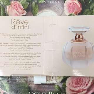 🌸 Lalique Rêve d Infini 萊儷 無盡浪漫 女性淡香精香水 1.8ml 原廠針管試管(噴)