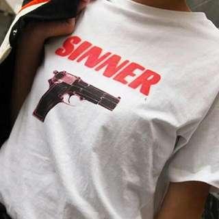 Sinner T-shirt Pre-order