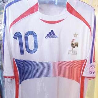法國隊 France ZIDANE 10 号波衫一件 M碼