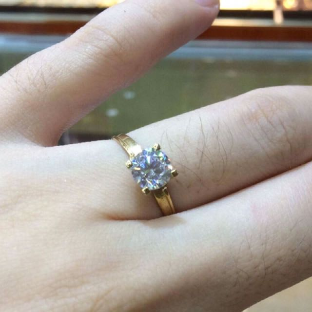 18k Saudi Gold ( Pawnable ) Engagement 💍