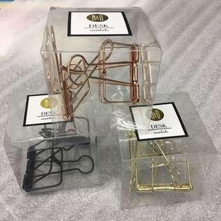 Rose Gold Binder Clips XL