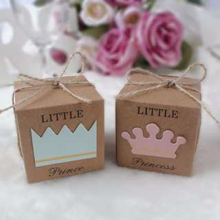 Little Prince / Princess Kraft Box (Doorgift/Berkat)