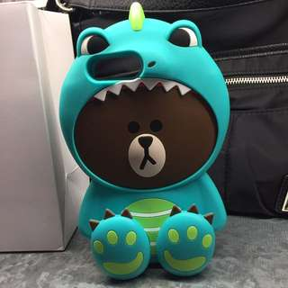 Line Friends恐龍Brown iPhone 7Plus 電話套