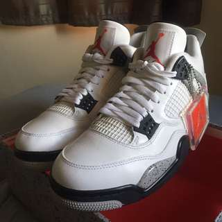 (9US) Air Jordan 4 OG 'White Cement'