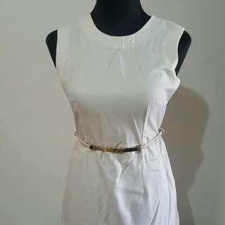 Mutyas Gracias Plain White Dress