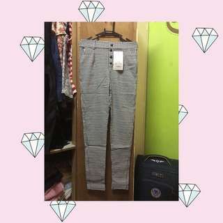 Checkered jeggings
