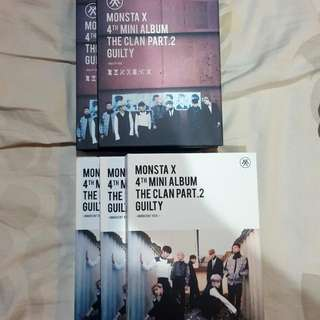 MONSTA X 4TH MINI ALBUM GUILTY