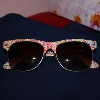 Floral Vintage Retro Ray Ban Style Sunglasses