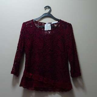 Floral Lace Top From Valleygirl