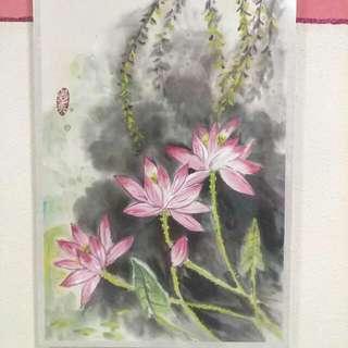 Scenery Painting (Pink Lotus)