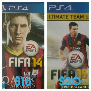 Pre-loved PS4 Fifa14 And Fifa15