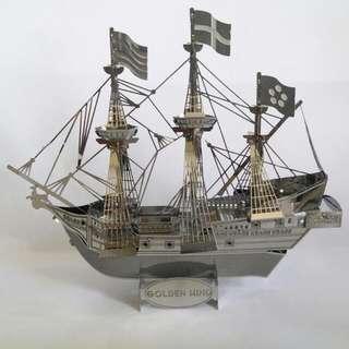 金鹿號海盜船金屬拼圖(成品)