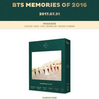[LOOSE] BTS MEMORIES 2016