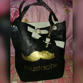 Mustache Shoulder Bag