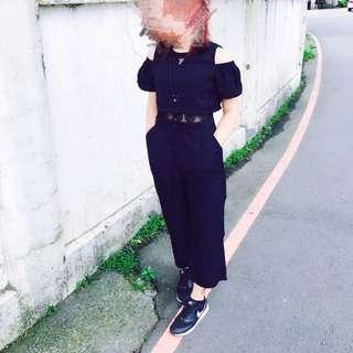 韓版黑連身褲