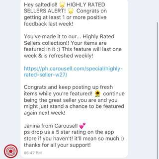 Thanky Carousell! 🤗😜
