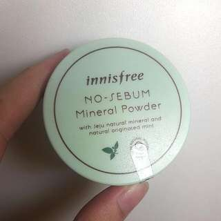 NEW! No Sebum Mineral Powder By Innisfree!