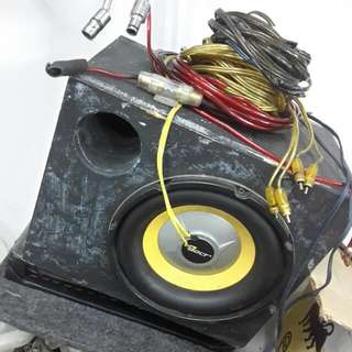 woofer and amp