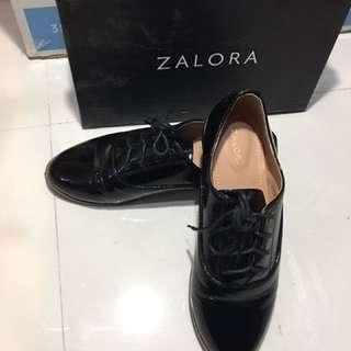 Zalora Black Patent Oxford Dress Shoes