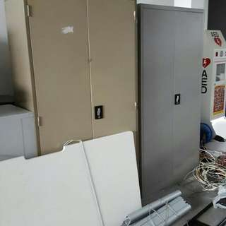6ft Tall Metal Filing Cabinet 2 Doors. No Key $80-100.  With Key $100-120 (Some We Replace New Key Lock). Subject To Models. Almost 20sets Various Model At The Moment. Prices above Is For Ea Set. View At Yishun