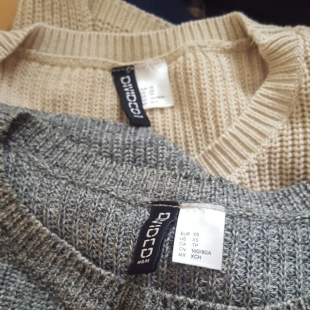 2 X H&m Jumpers Size Xs