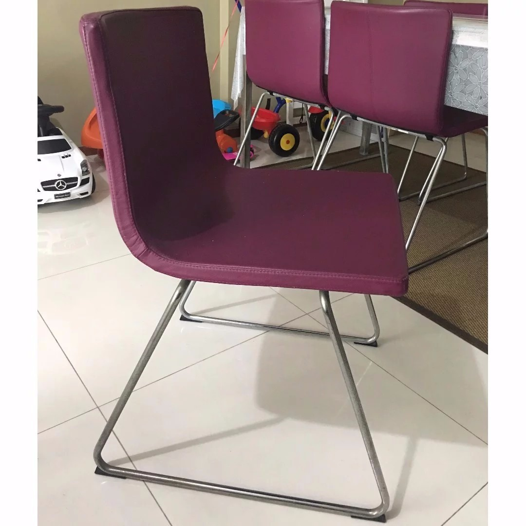 Pleasing 6 Limited Edition Ikea Bernhard Purple Dining Chairs Dailytribune Chair Design For Home Dailytribuneorg