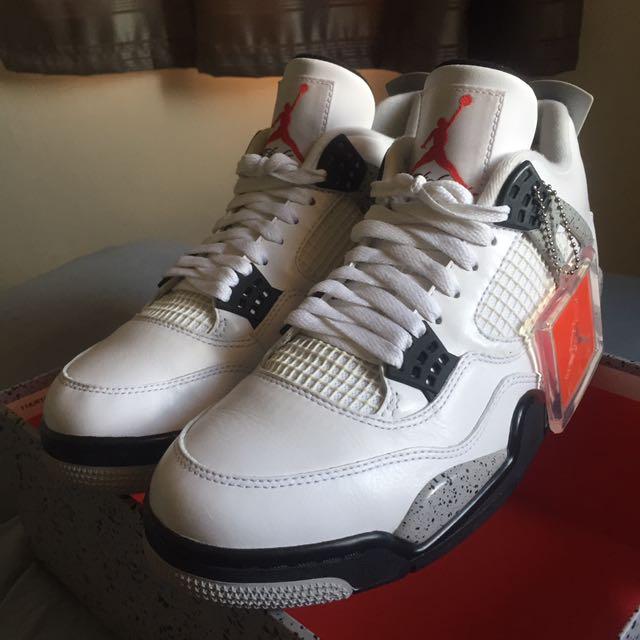 (9US) Air Jordan 4 OG 'White Cement'