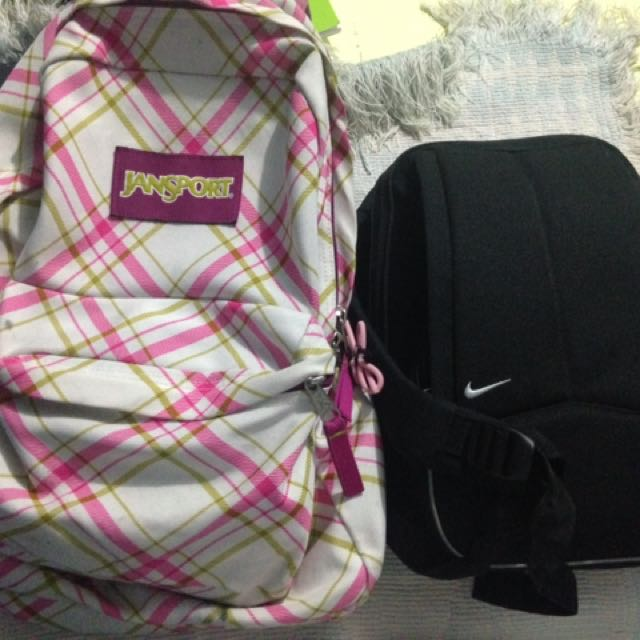 REPRICED! Authentic Jansport And Nike Bagpack