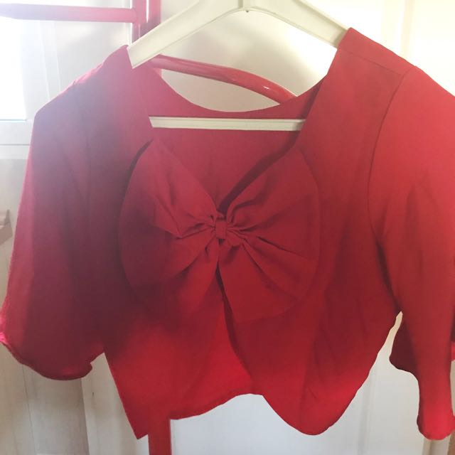 REPRICE!! Back Bow Top