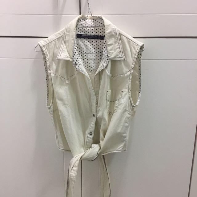 Baju Zara Broken White
