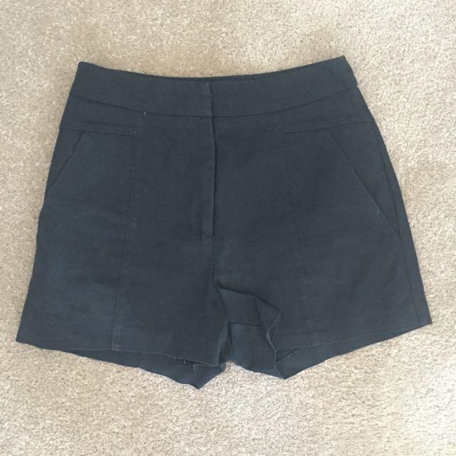 Bardot Black High waisted Shorts
