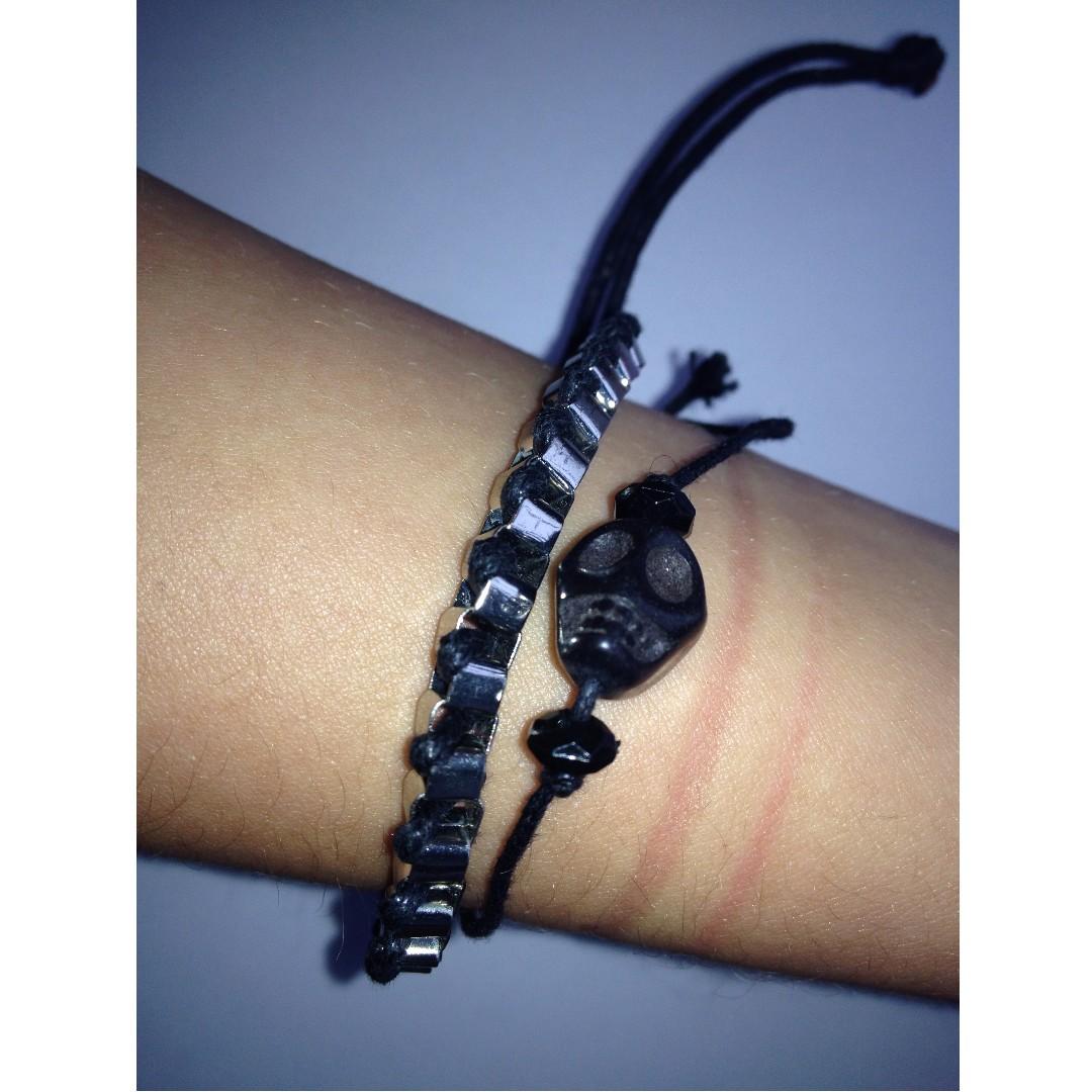 Black Bracelet Pair