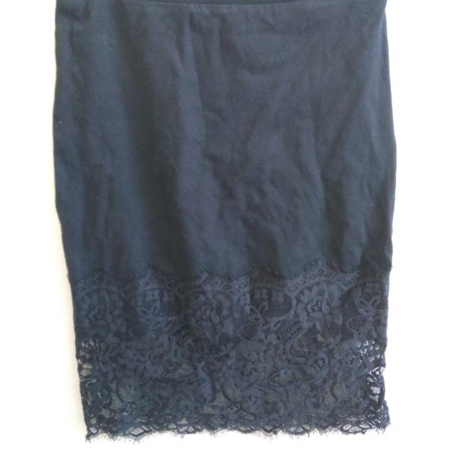 Black Lace Trim Pencil Skirt Size Small
