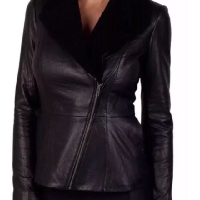 Black Leather Kookai Jacket