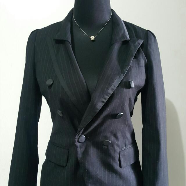 Black With Lining Corporate Blazer
