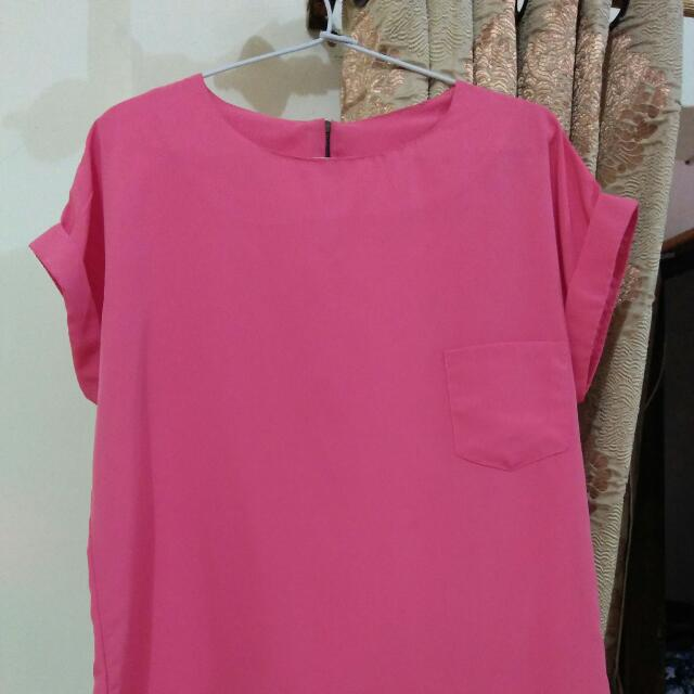 Blouse Shocked Pink
