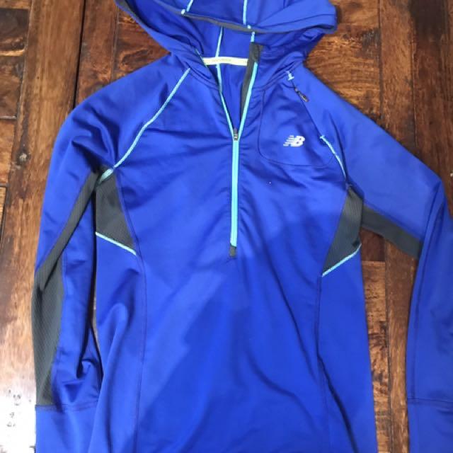 Blue New Balance Long Sleeve Hoodie