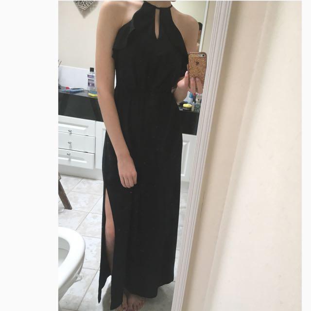 BNWT Forever New Black Maxi Formal Dress