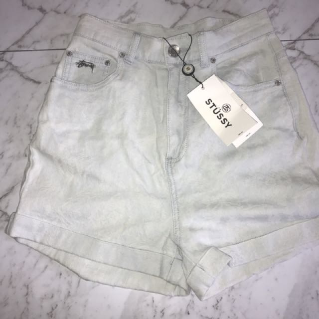 BRAND NEW! stussy high waisted shorts